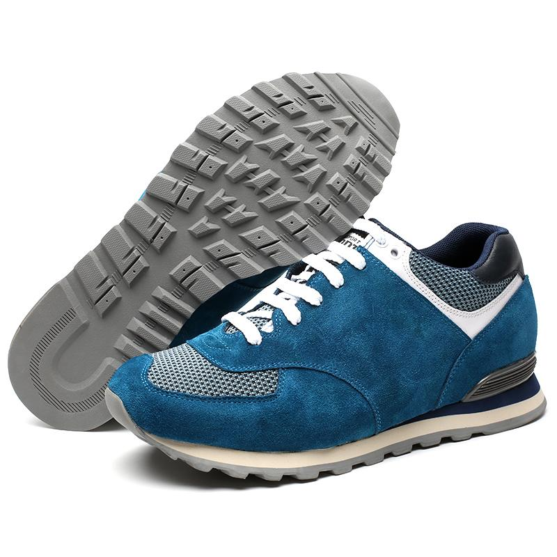 Blaue elegante Schuhe Die Größer Machen +6 CM Herren