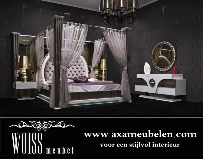 woiss m bel neues modell hochglanz himmelbett gold schlafzimmer in 3083 m bel und haushalt. Black Bedroom Furniture Sets. Home Design Ideas