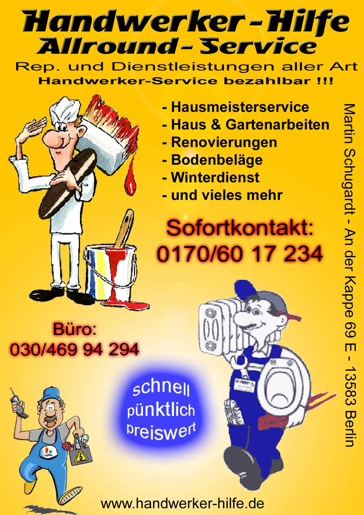 Handwerker Dienstleistungen Visitenkarte Archivfotos Und