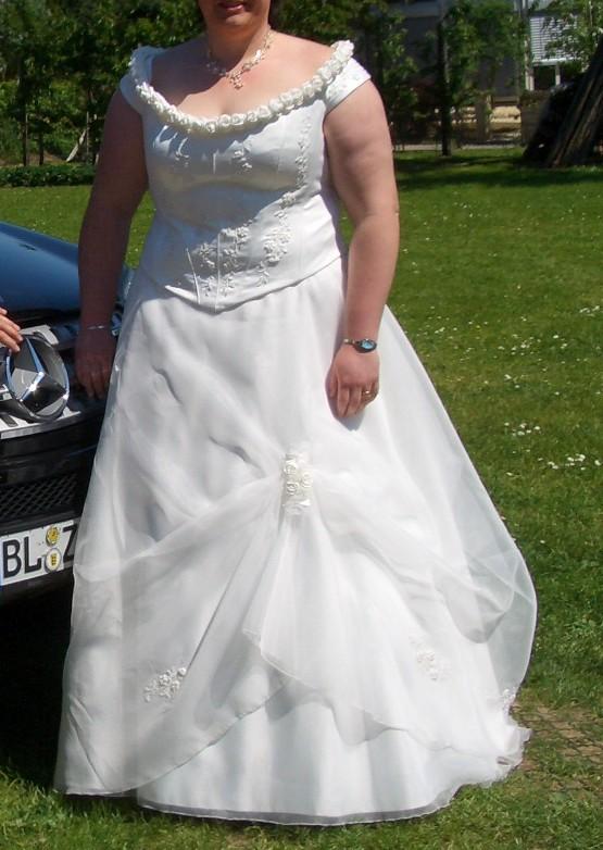 teiliges Hochzeitskleid in der Farbe creme Gr 52 in Neustetten ...
