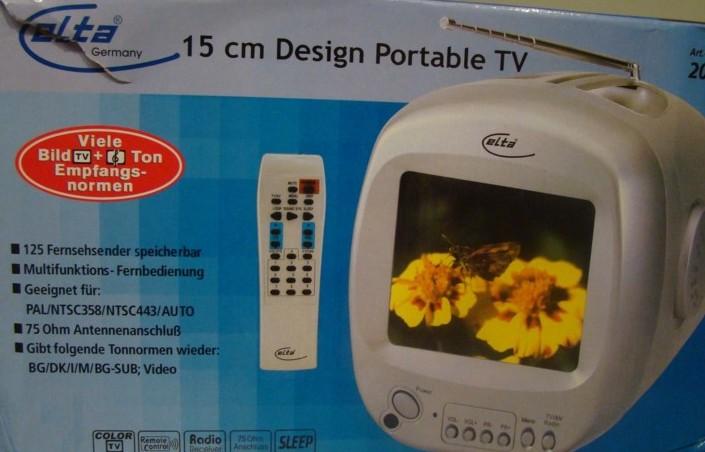 elta portable colour tv 15cm in l beck tv hifi video audio kleinanzeigen. Black Bedroom Furniture Sets. Home Design Ideas