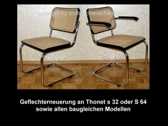 geflecht reparatur an thonet 32 64 sowie alle baugleichen. Black Bedroom Furniture Sets. Home Design Ideas