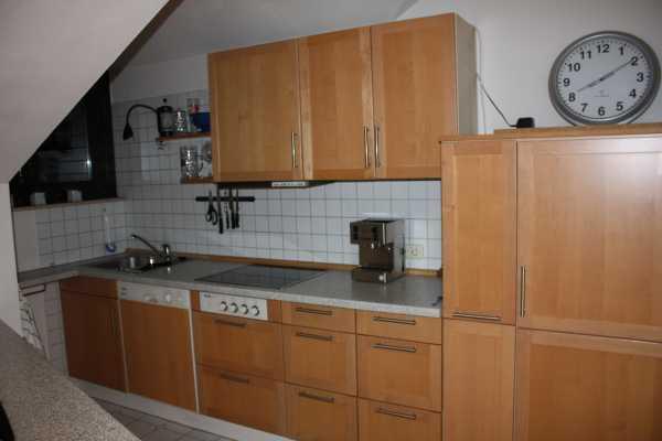 Komplettküche buche mit allen einbaugeräten miele günstig abzugeben