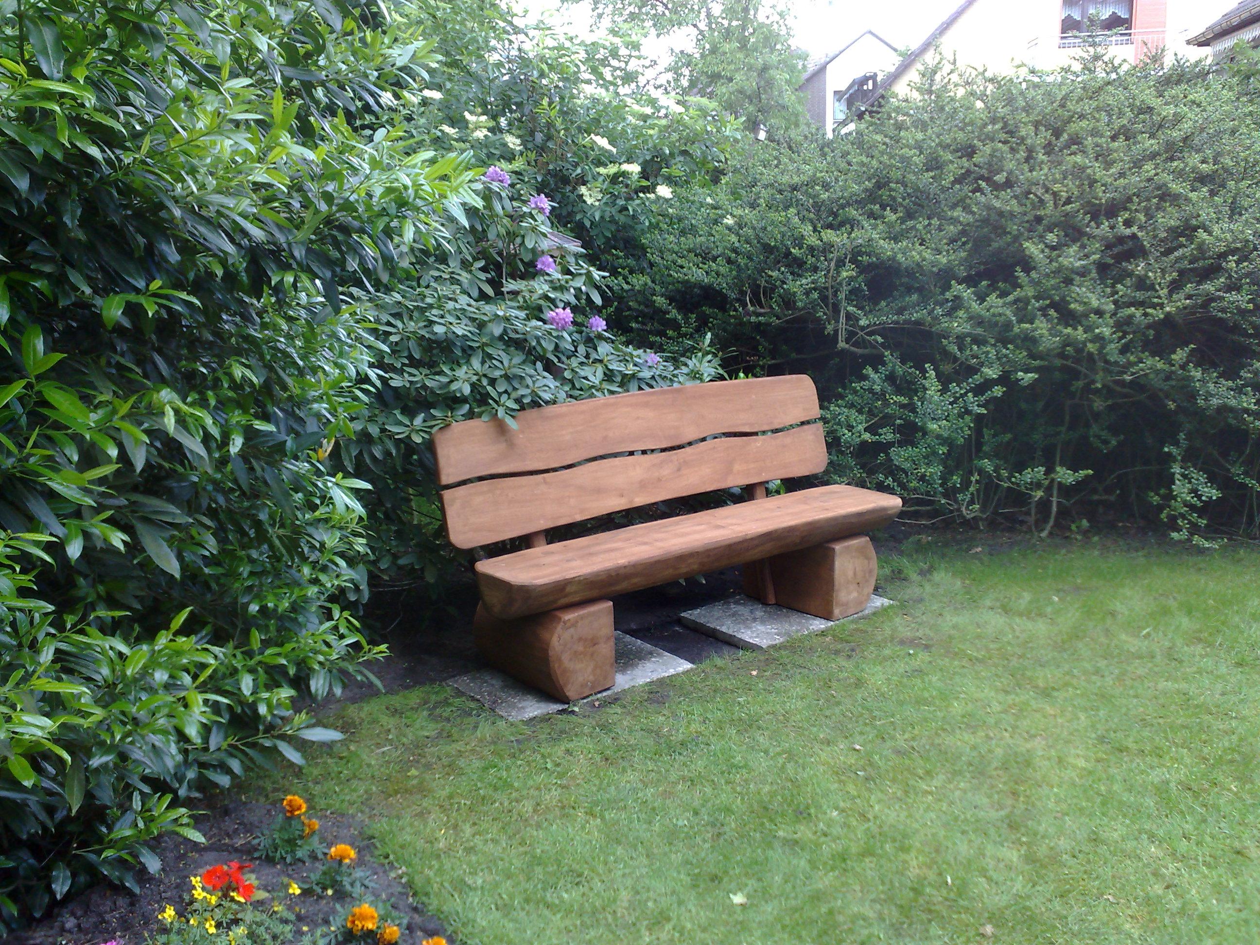 Garten Gartenbank Eiche Eichenbank Möbel Geschenk Speilplatz