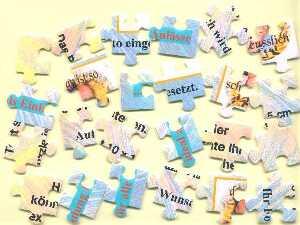 Einladung, Einladungskarten, Karten als Puzzle