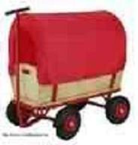 bollerwagen mit regenschutz plane ideal zum osterfest. Black Bedroom Furniture Sets. Home Design Ideas