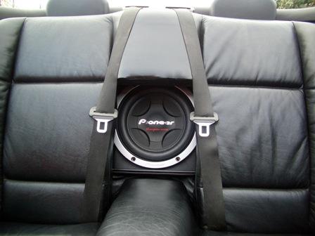 car hifi subwoofer bass system f r bmw e36 cabrio. Black Bedroom Furniture Sets. Home Design Ideas