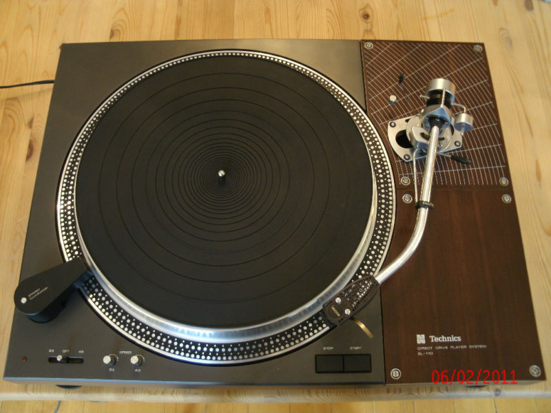 Technics laufwerk model sl 110 mit sme 3009 shure v15 in for Mobel inserieren