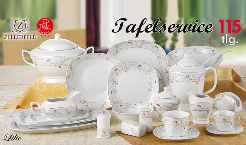 tafelservice lilie 115 tlg f r 12 personen eine mischung zwischen verspieltes in essen m bel. Black Bedroom Furniture Sets. Home Design Ideas