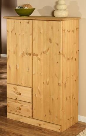 toller dreit riger kleiderschrank aus kiefer teilmassiv in. Black Bedroom Furniture Sets. Home Design Ideas