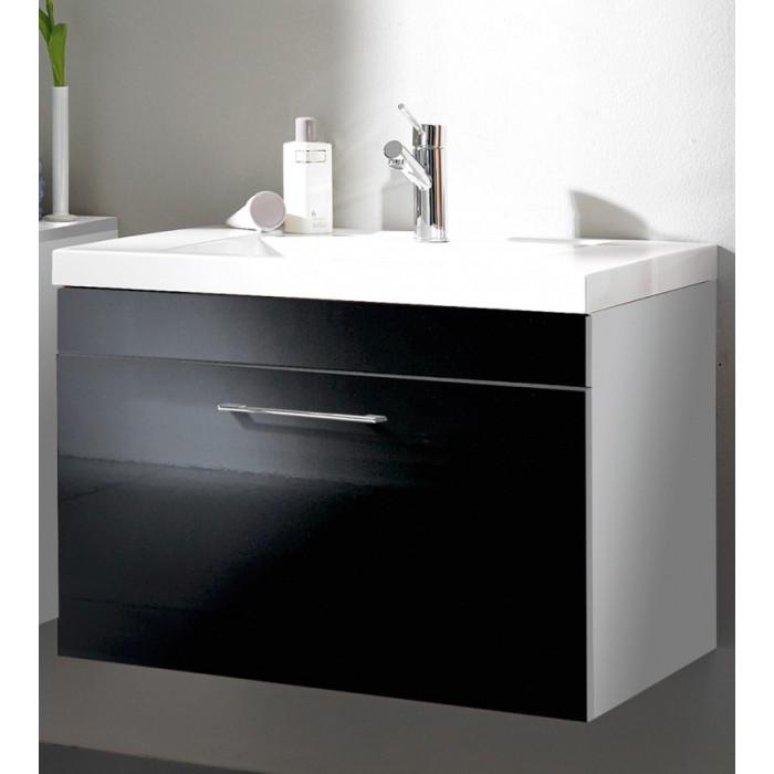 Waschbeckenschrank Klein : Günstiger Waschtisch Waschbeckenschrank weißschwarz Kenny bringen