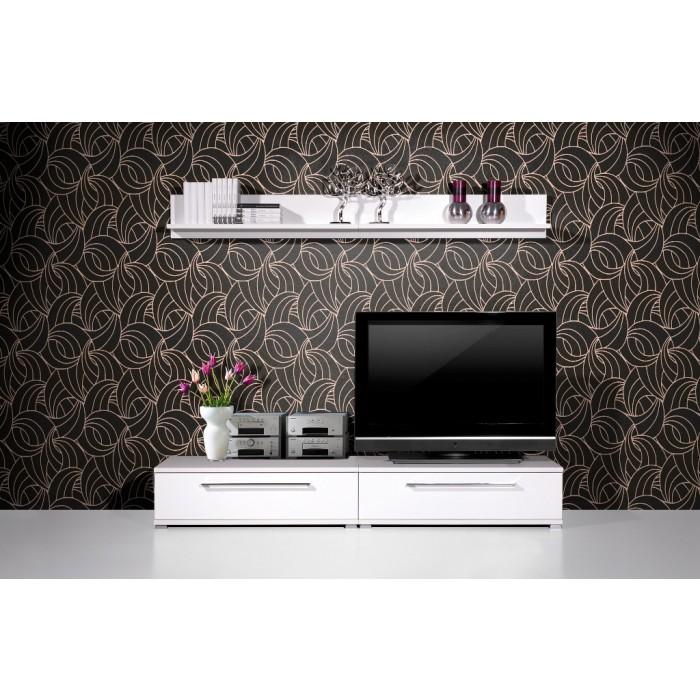 Wohnzimmermöbel Angebote: Günstige Italienische Hochglanz Wohnwand AXA Möbel