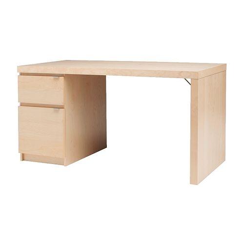 Ikea Kallax High Gloss White ~ Ikea Schreibtisch Jonas Birkenfunier in Jena  Möbel und Haushalt
