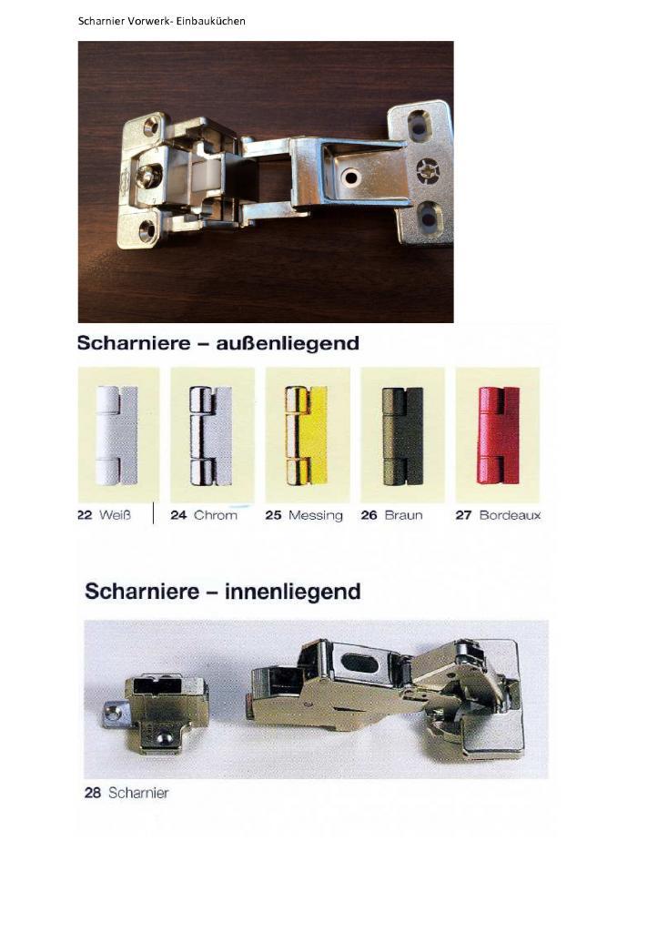 Vorwerk Hettich Topfband Möbelband Küche Schrank BRAUN inkl ...
