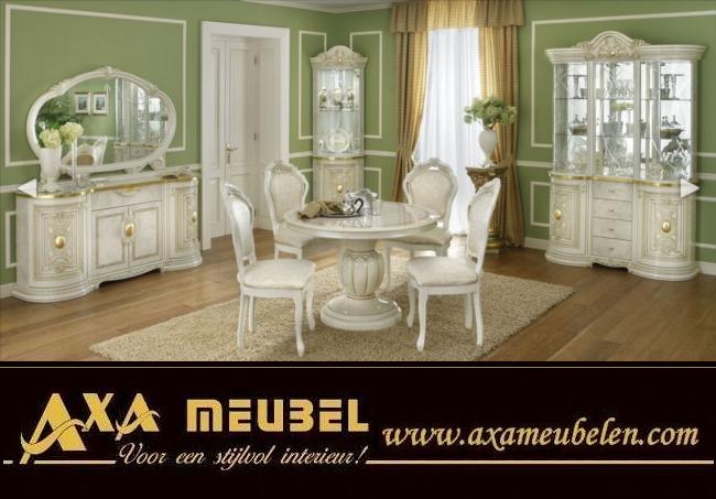 Beige Gold Hochglanz Klassische Italienische Wohnzimmer AXA Möbel ...