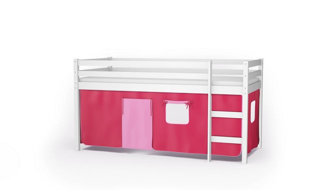 Etagenbett Nackenrolle : Kinderbett jugendbett kiefer hochbett etagenbett mit vorhang