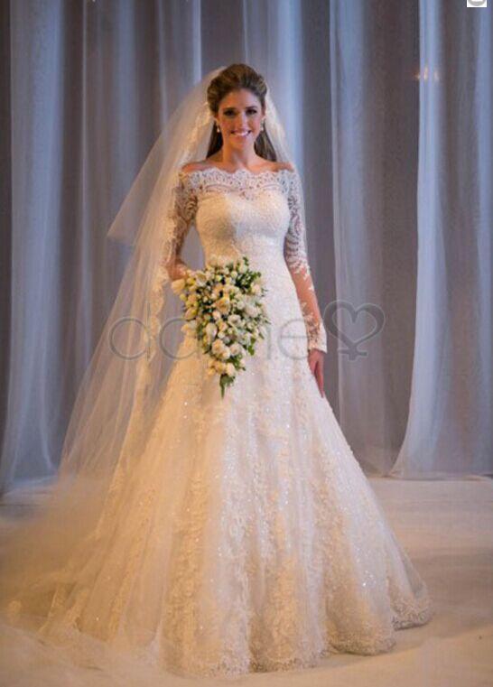 Brautkleider spitze lange armel