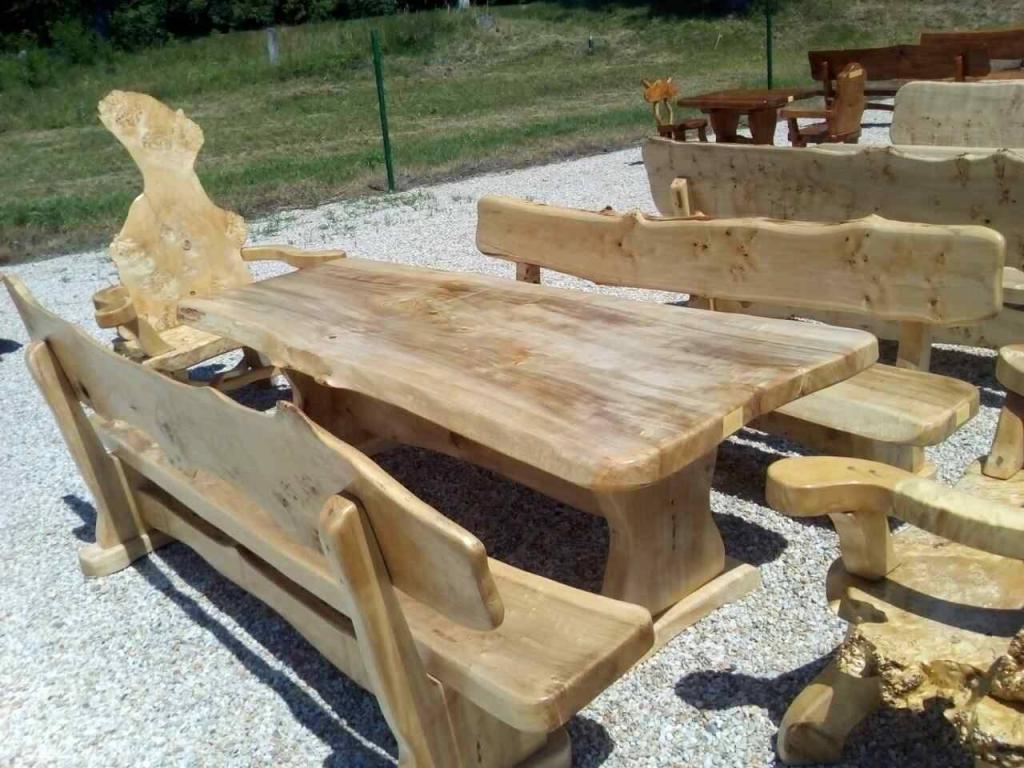 Gartenmöbel rustikale Möbel aus Holz in München | Möbel und Haushalt ...