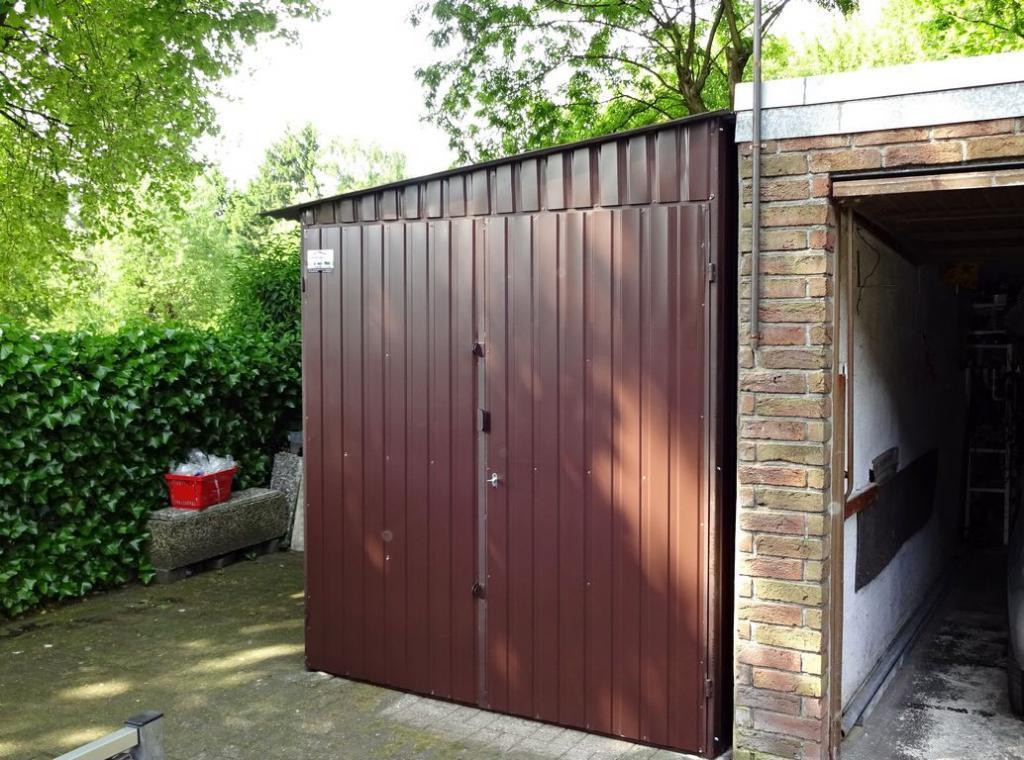 Garage Blechgarage Motorradgarage Schuppen Fertiggarage 2x3 in ...