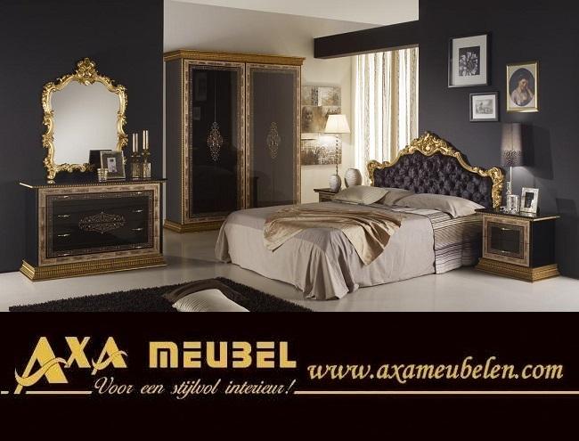 Schwarz Gold Wohnzimmer Klassische Italienische Stil AXA ...