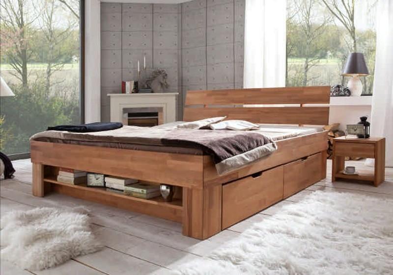 Schlafzimmer Sofie Kernbuche massiv geölt SO 180 Thomas 4S NA JUD in ...