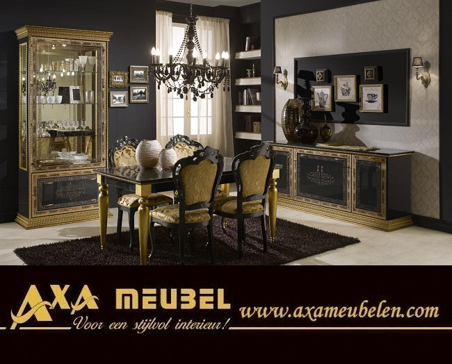 schwarz gold wohnzimmer klassische italienische stil axa m bel in 2512cm m bel und haushalt. Black Bedroom Furniture Sets. Home Design Ideas