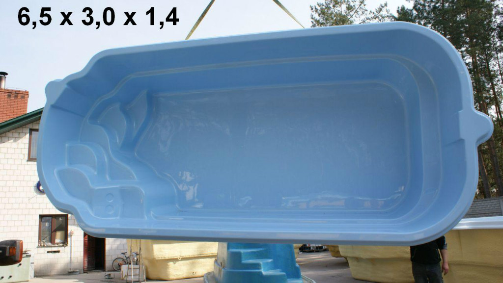 gfk schwimmbecken pool lichtblau 80 50 20 vollisoliert neuware in berlin handwerk hausbau. Black Bedroom Furniture Sets. Home Design Ideas