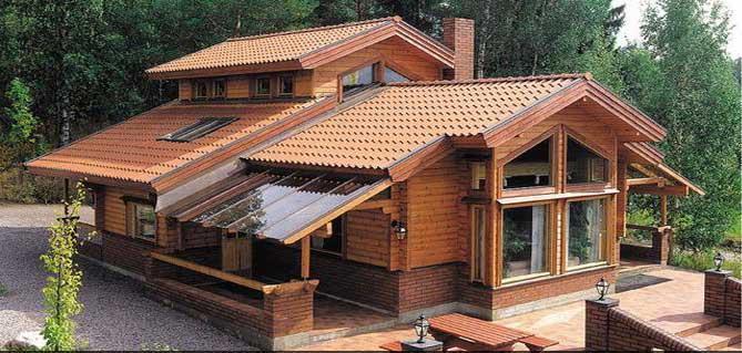 Holzblockhaus modell alessia in m nchen handwerk - Casa americana in legno ...