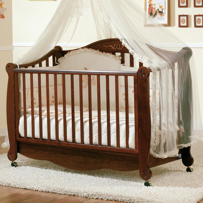Kinderbett mitwachsend  Kinderbett mitwachsend umbaubar Babybett Rigoletto im Retro Design ...