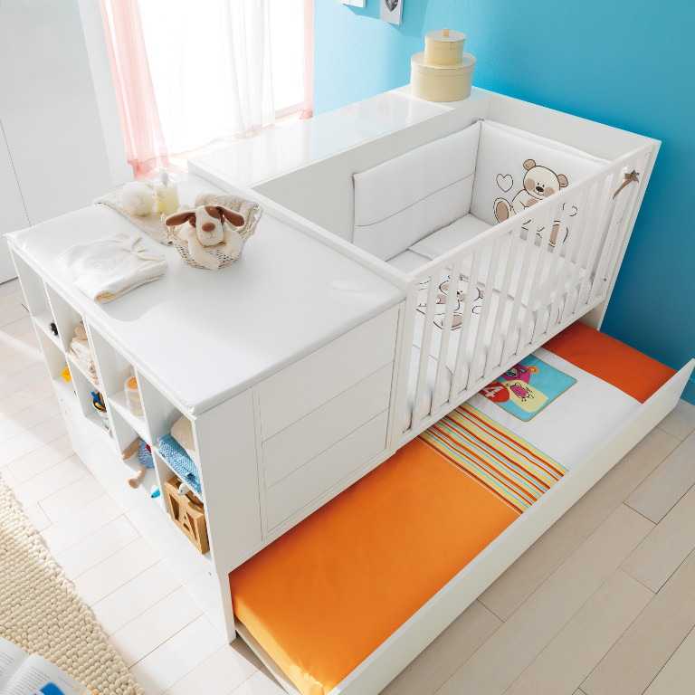kinderbett umbaubar zum jugendzimmer pali voyager komplett mit. Black Bedroom Furniture Sets. Home Design Ideas