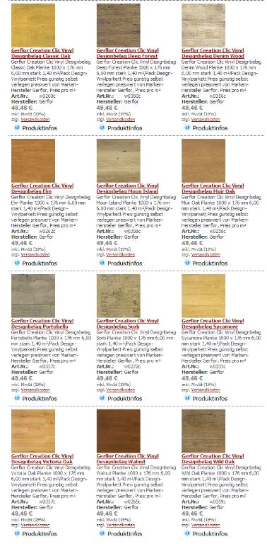 gerflor creation clic vinylboden pvc planken in d sseldorf. Black Bedroom Furniture Sets. Home Design Ideas