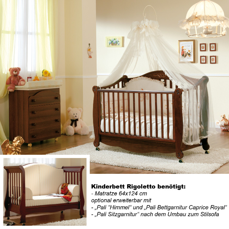 kinderbett mitwachsend umbaubar babybett rigoletto im retro design buche in dresden baby und. Black Bedroom Furniture Sets. Home Design Ideas