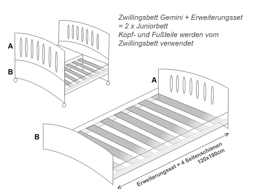 baby zwillingsbett gemini vollholz buche bett f r zwilling azzurra design in dresden baby und. Black Bedroom Furniture Sets. Home Design Ideas