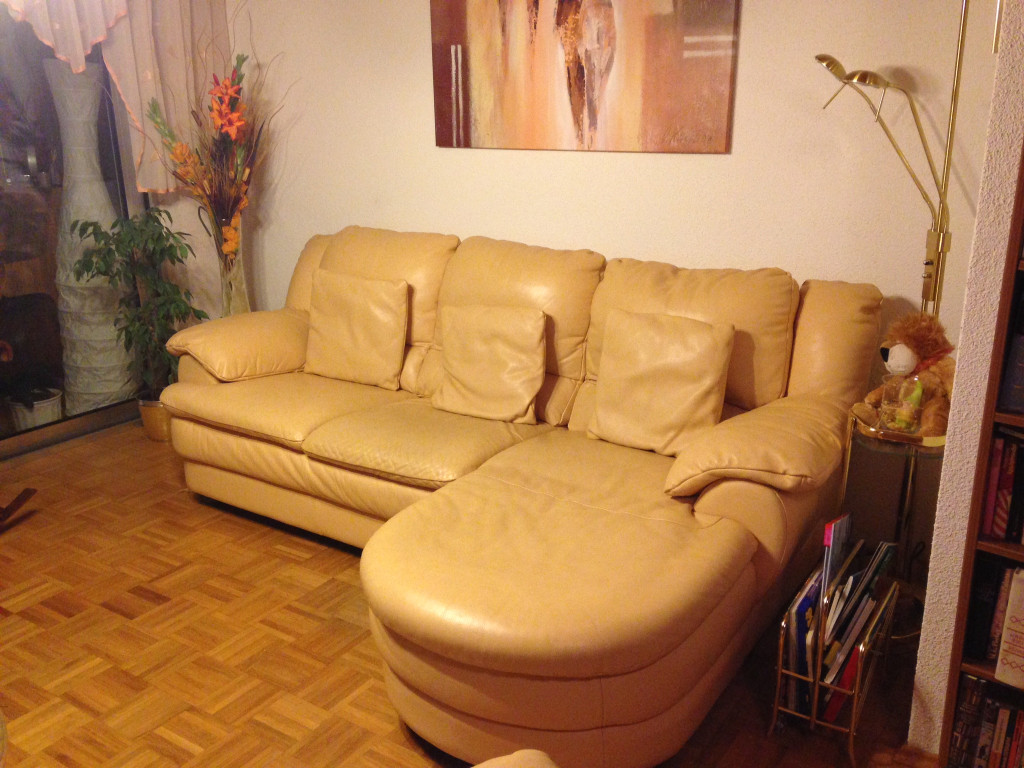 natuzzi designer couch sofa garnitur in vanille echtleder. Black Bedroom Furniture Sets. Home Design Ideas