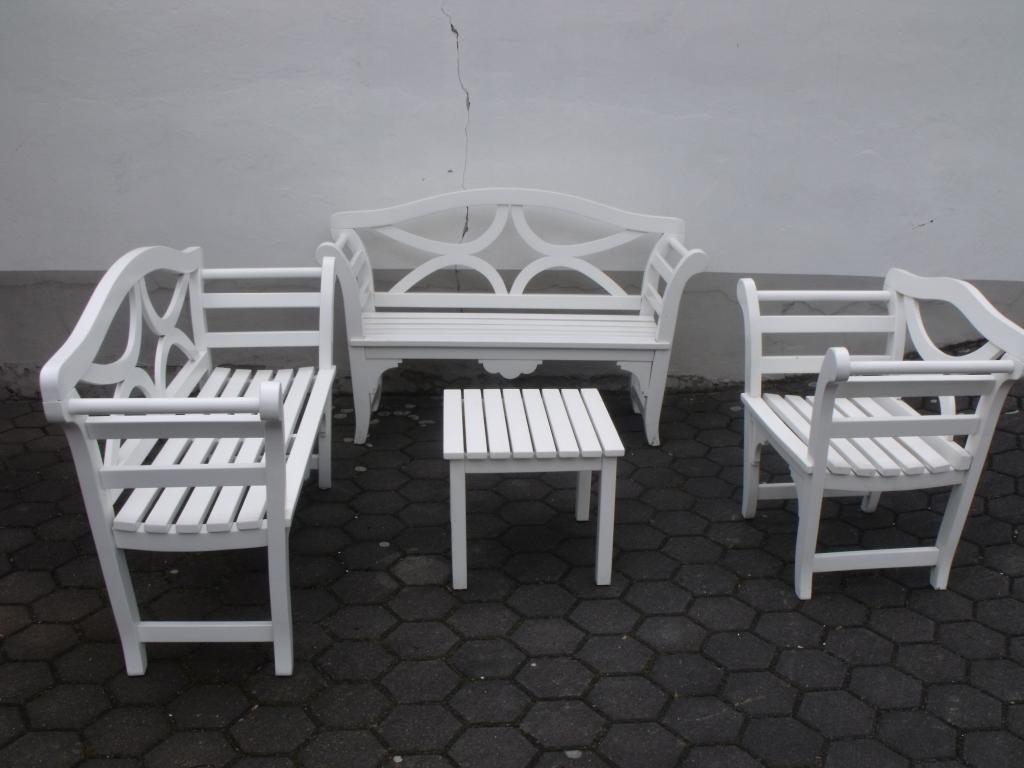 Gartenmobel Alu Geflecht : Edle 4 teilige Sitzgruppe im Landhausstil Einzelanfertigung massiv