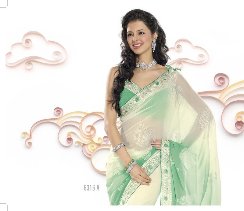 Bollywood SARI INDISCHE PARTY KLEID mit Blusenstoff in Neuss ...