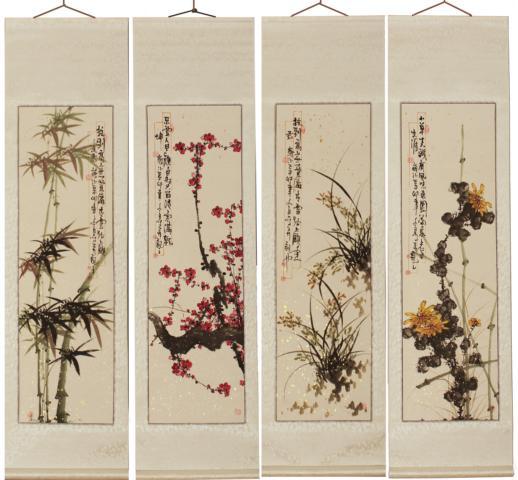 chinesische asiatische malerei kalligraphie rollbilder. Black Bedroom Furniture Sets. Home Design Ideas
