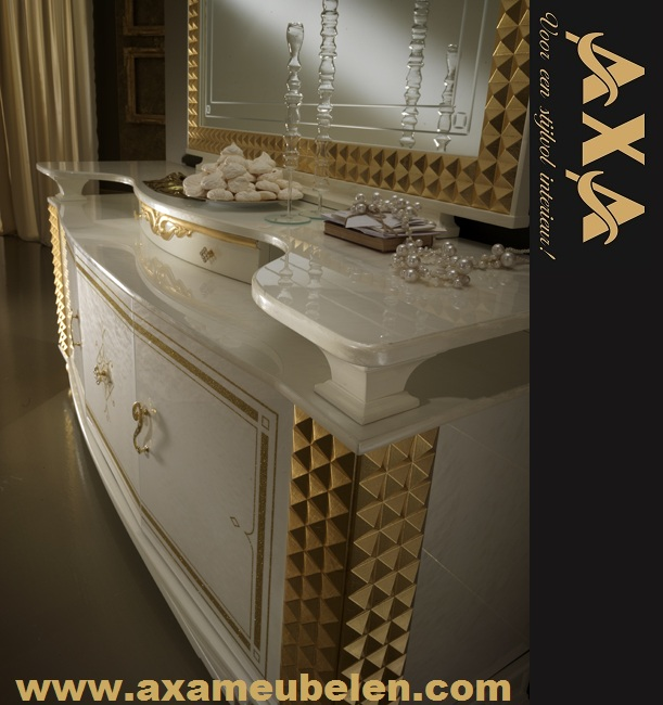 classic italienische hochglanz wohnzimmer set axa möbel nl in, Wohnzimmer