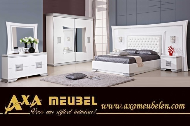schlafzimmer komplett wei hochglanz g nstig kaufen axa. Black Bedroom Furniture Sets. Home Design Ideas