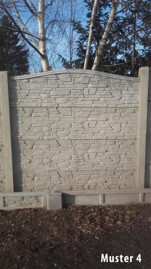 Zaun Pfosten Untermauerungen aus Beton Betonplatte Betonzaun VIELE ...
