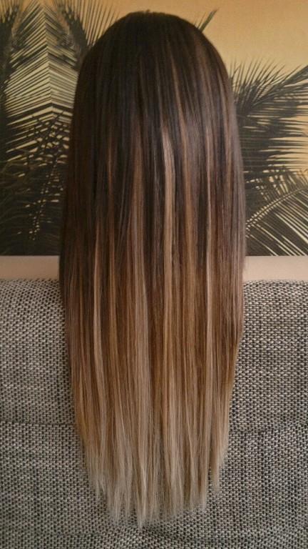 15 ombre braun glatt haare braun mit blonden str for Ombre braun