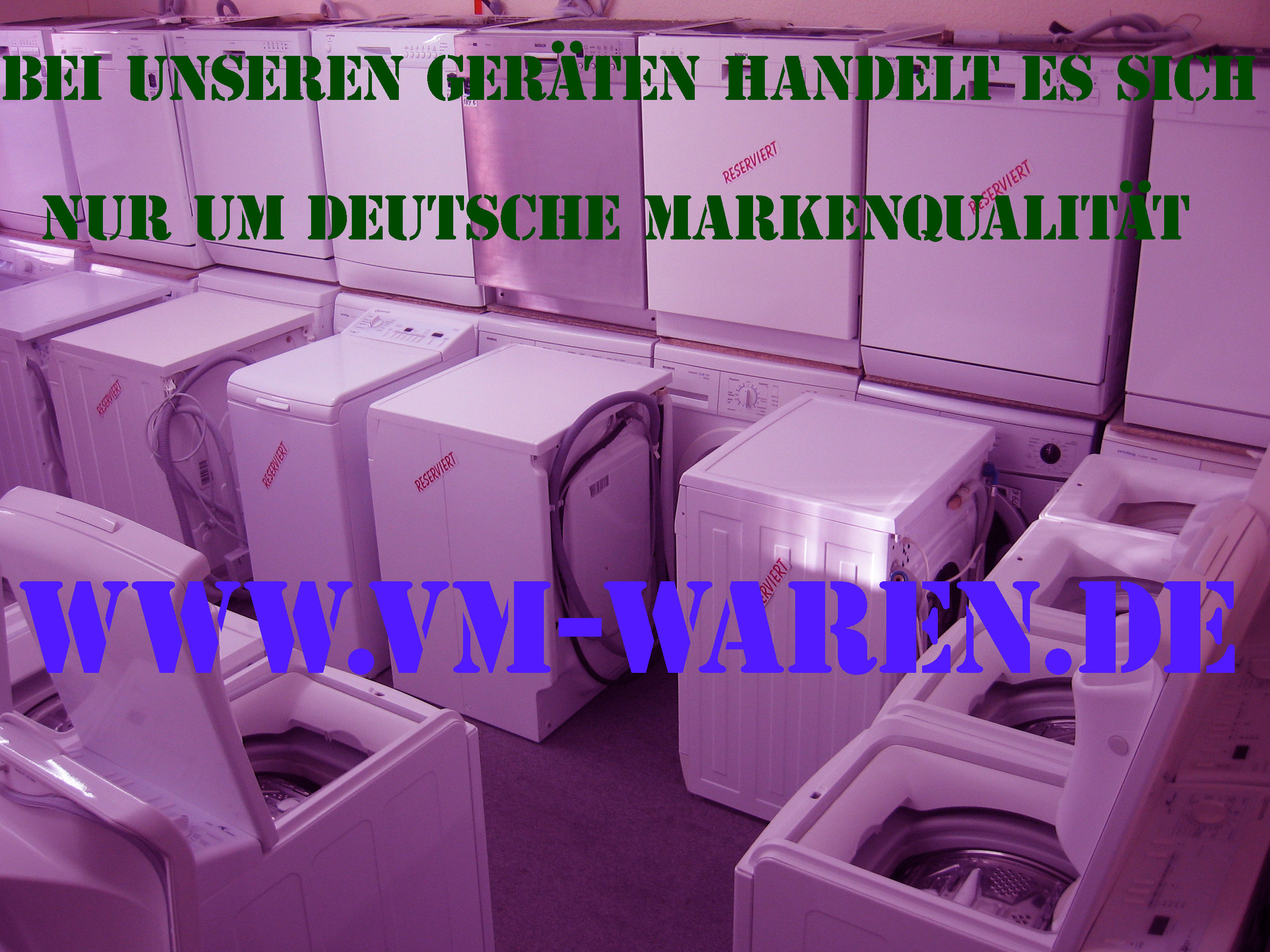 Gebrauchten spül und waschmaschinen nur deutsche markenprodukte