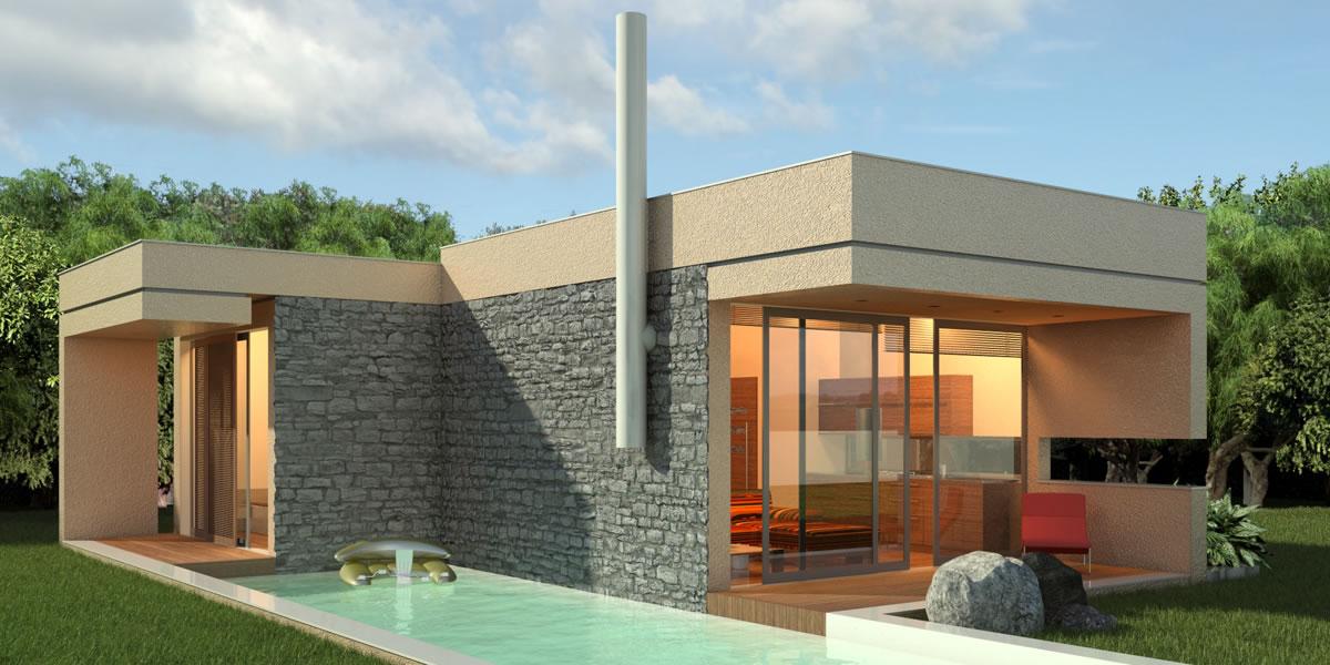 Moderner bungalow im mediterranen stil griechenland in for Moderne bungalows bauen