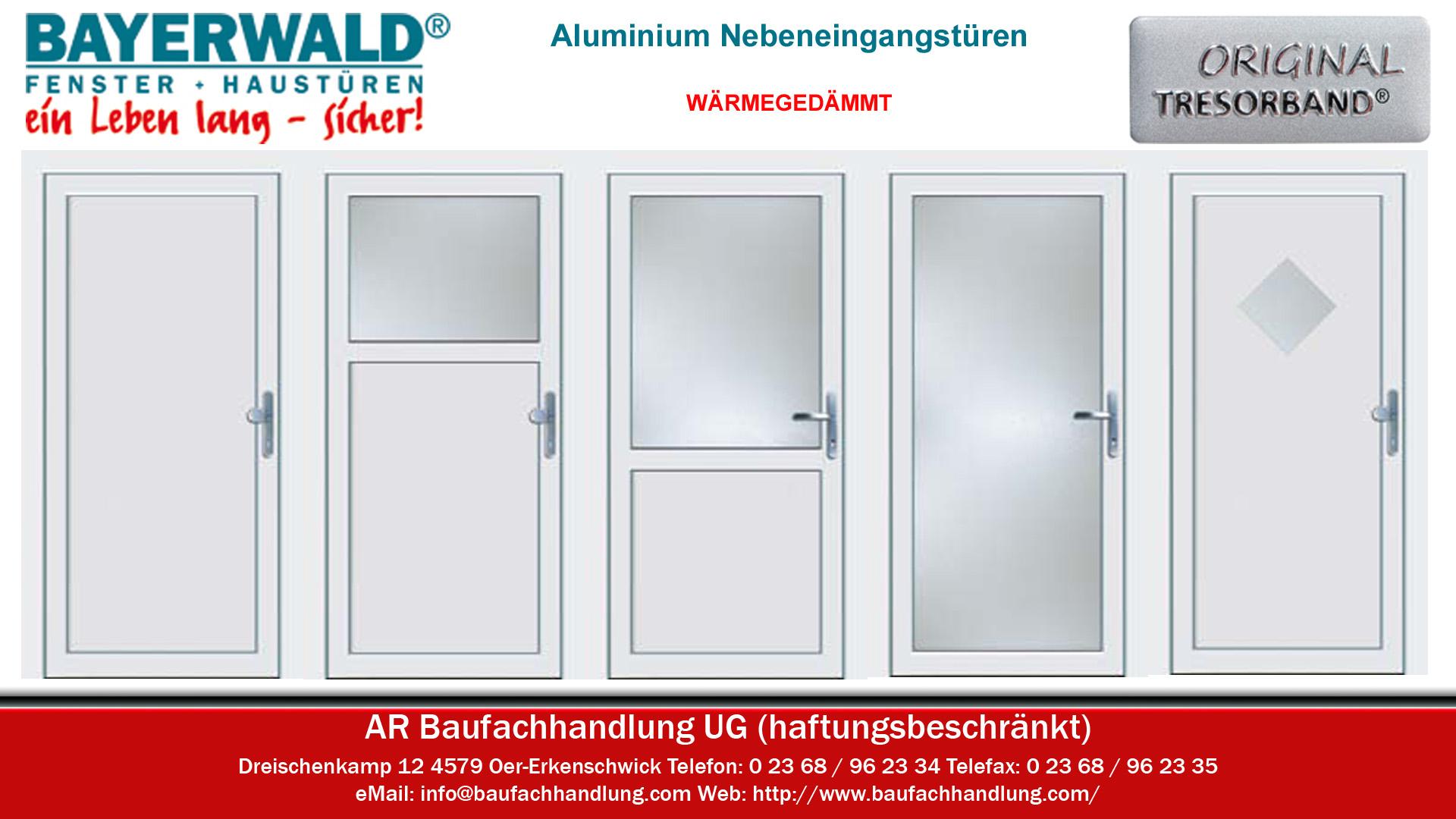 Ordentlich Nebeneingangstüren in Aluminium wärmegedämmt in Oer-Erkenschwick  VN87