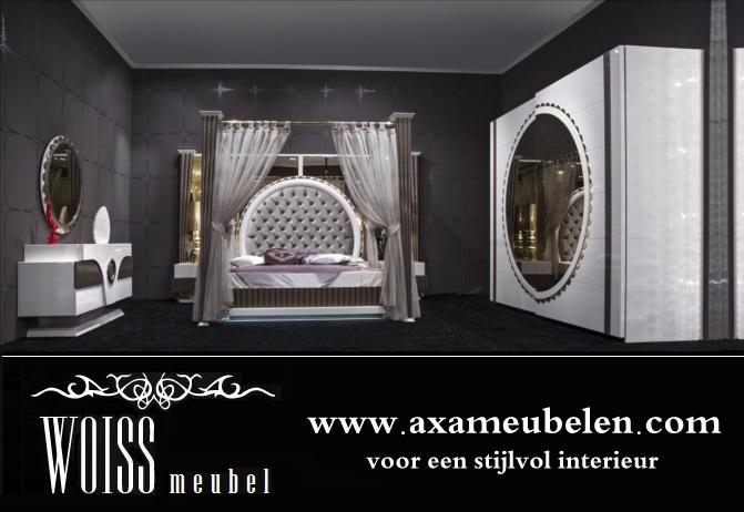 WOISS Möbel neues Modell hochglanz Himmelbett Gold schlafzimmer in ...