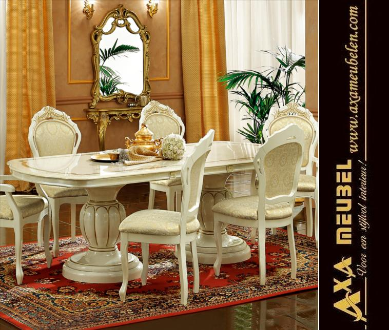 Beige Gold Hochglanz Klassische Italienische Wohnzimmer