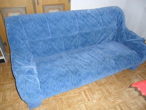 sofagarnitur dreisitzer zweisitzer sessel in sch nau. Black Bedroom Furniture Sets. Home Design Ideas