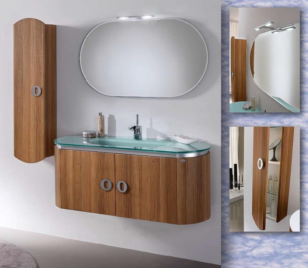 modernes badmöbelset mit glaswaschbecken in berlin | möbel und, Hause ideen