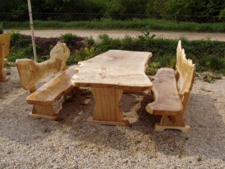 Gartenmöbel Tisch Bänke Pavilon Aus Massivholz In Soldvadkert