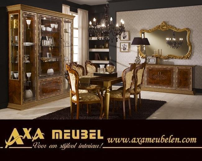 Schwarz Gold Wohnzimmer Klassische Italienische Stil AXA Möbel in ...